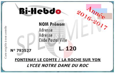 Carte Bi Hebdo