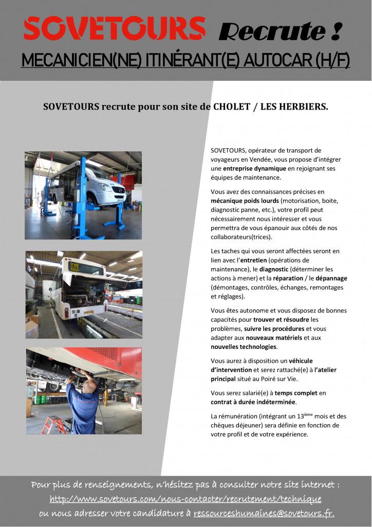2019.05.27 - Annonce Mécanicien confirmé itinérant Cholet - Les Herbiers