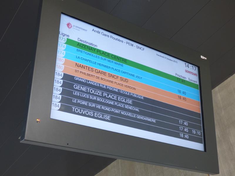 écran horaire